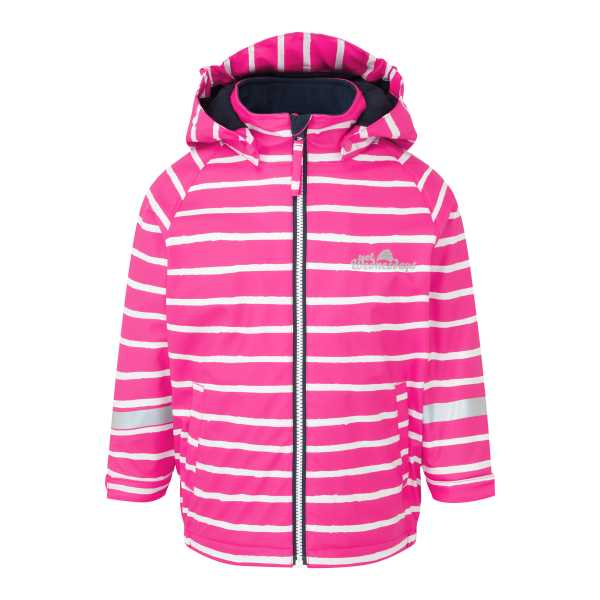 Outdoors Fleece Lined Jacket  in Pretty Pink Stripe