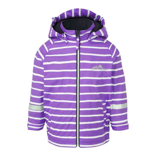 Outdoors Fleece Lined Jacket  in Perfect Purple Stripe