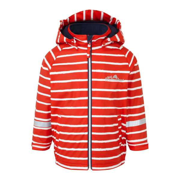 Outdoors Fleece Lined Jacket  in Racing Red Stripe