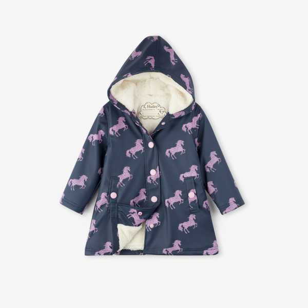Sherpa Lined Splash Jacket in Horse Silhouettes