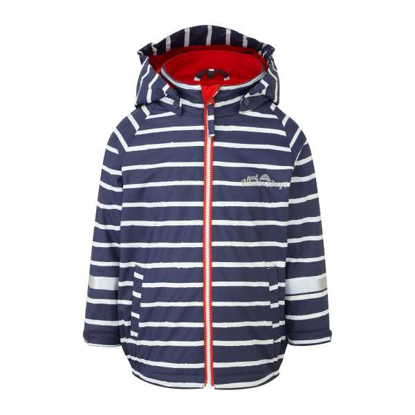 Outdoors Fleece Lined Jacket  in Sailor Blue Stripe