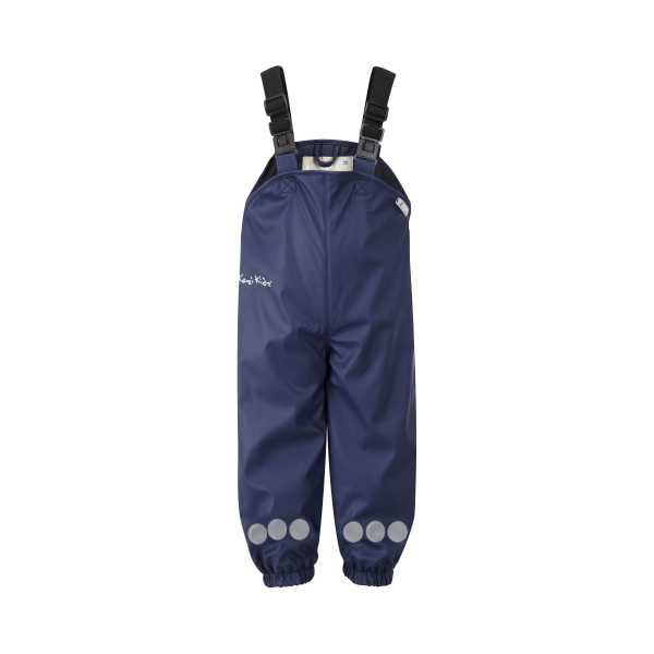 Fleece Lined Trousers in Varberg Navy Blue Dung