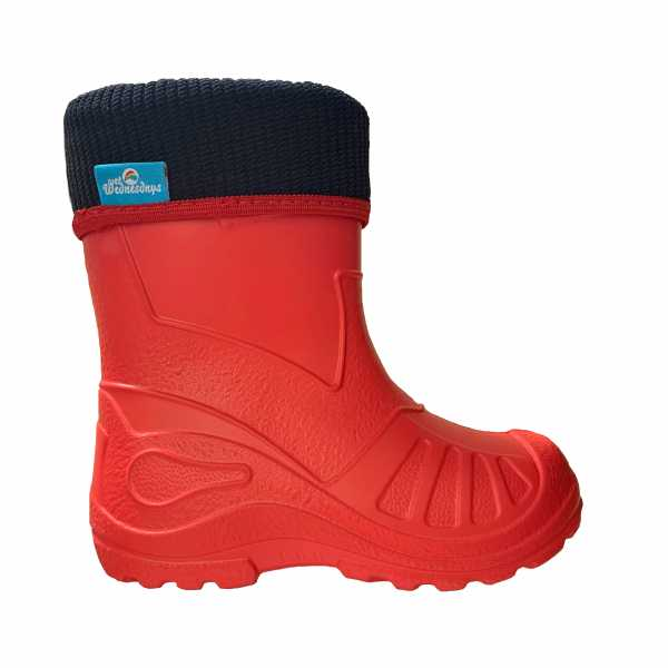 Bubble Boots in Red