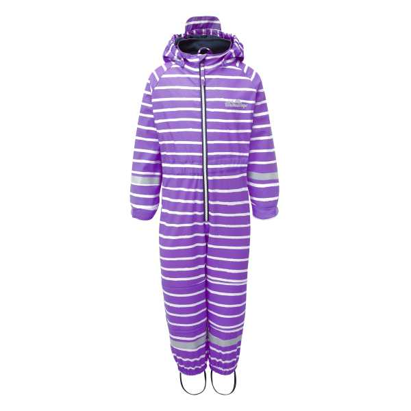 Outdoors Fleece Lined All in One in Perfect Purple Stripe