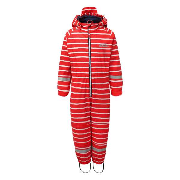 Outdoors Fleece Lined All in One in Racing Red Stripe